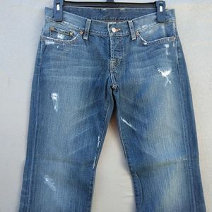 Lucky Brand Lil Maggie Jeans Destroyed 100% Cotton